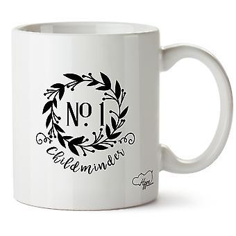 Hippowarehouse numero uno Childminder corona floreale stampato Mug tazza ceramica 10oz