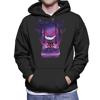 Pokemon Gengar Console Silhouette Men's Hooded Sweatshirt