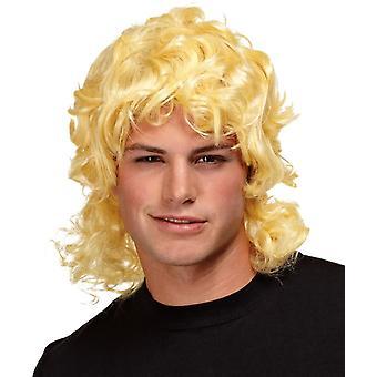 Mullet pruik blond voor mannen