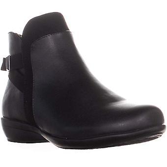 Karen Scott KS35 Vanni Side Zip Flat Ankle Boots, Black