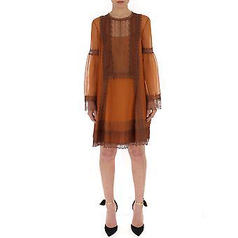 Alberta Ferretti 04091614a0090 Women's Brown Cotton Dress