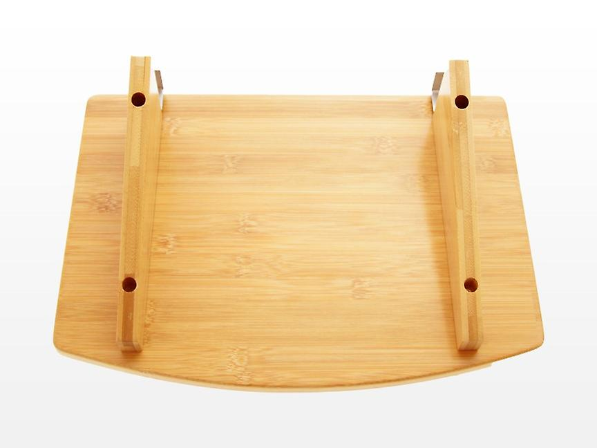 Woodquail Bamboo Bedside Hanging Flat Clip on Shelf Space Saving Table for Phones, Books, Glasses