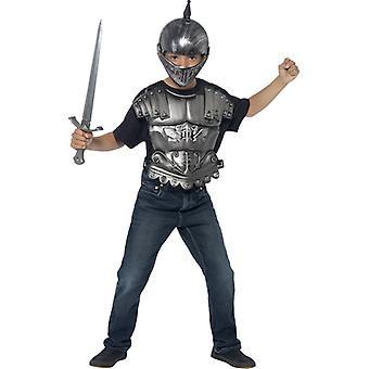 Medieval para niños casco espada de coraza