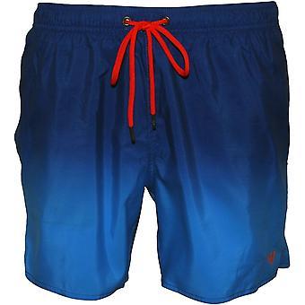 Emporio Armani kontrast logo simma shorts, graderad turkos blå