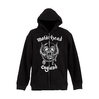 Men's Motorhead England Black Zip-Up Hooded Jacket