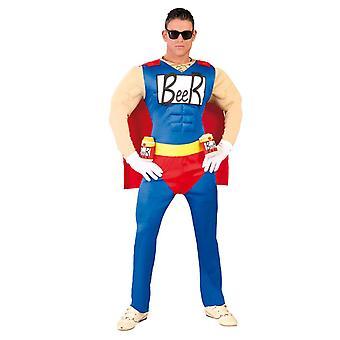 Mens-Beer superheld Fancy Dress kostuum Stag Party
