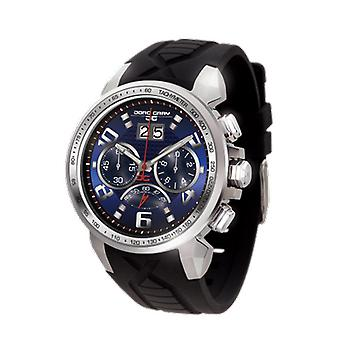 Jorg Gray Mens JG5600-23 Chronograph Watch Patterned Dial Silicone Strap