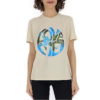 Alberta Ferretti 07046661j0463 Frauen's Beige Baumwolle T-shirt