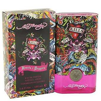 Ed Hardy Hearts & Daggers By Christian Audigier Eau De Parfum Spray 3.4 Oz (women) V728-464187