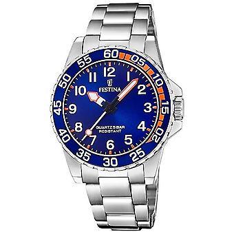Festina | Mens/Junior's Stainless Steel Bracelet | Blue Dial | F20459/2 Watch
