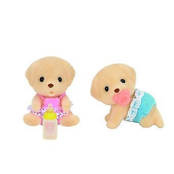 Brinquedos - Sylvanian famílias - gêmeos de Labrador amarelo - Epoch