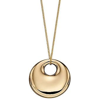 Elements Gold Bold Organic Disc Pendant - Or