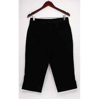 Denim & Co. kvinder ' s bukser pull på Capri Black A296395