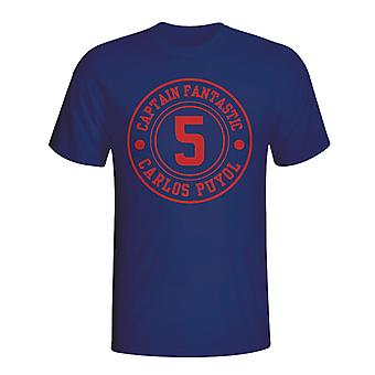 Carlos Puyol Barcelona Captain Fantastic T-shirt (navy) - Kids
