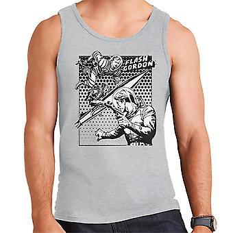 Flash Gordon Space Suit Rocket Montage Men's Vest