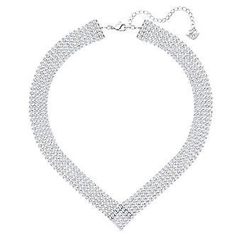 Swarovski Fit Necklace - White - Palladium Plating
