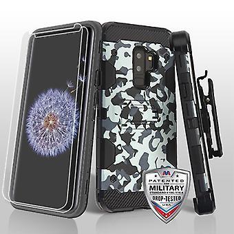 MYBAT الحضري التمويه / أسود 3 في 1 العاصفة خزان الهجين CaseCombo ث / الحافظة (حماة الشاشة التوأم) لغالاكسي S9 زائد
