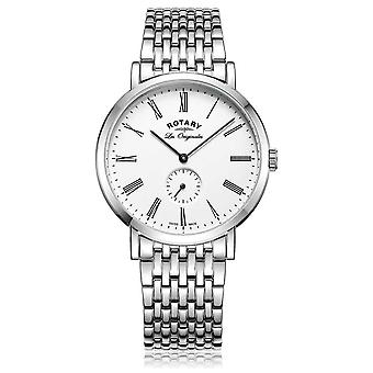 Roterende Mens Windsor Stainless Steel White Dial GB90190/01 Watch