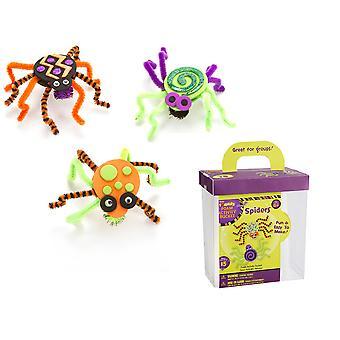 Pianki & Pipecleaner Spider dzieci Halloween Craft Kit - sprawia, że 15