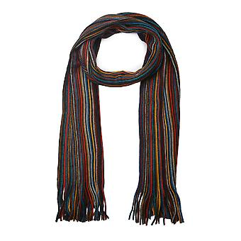Jonah Red Multi Colour Striped Scarf