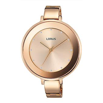 Lorus woman Quartz Analog Women Watch with Stainless Steel Bracelet Gold Plated RG236LX9