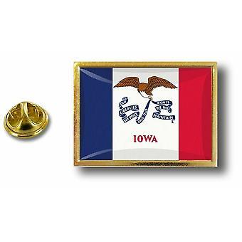 Kiefer Pines Abzeichen Pin-Apos;s Metall mit Schmetterling Pinsel Flagge USA Iowa