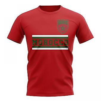 المغرب الأساسية لكرة القدم البلد تي شيرت (الأحمر)