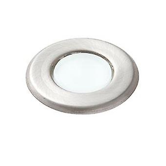 Saxby Lighting Cove Integrated LED 1 Light Outdoor Recessed Light Marine Grade Brushed Stainless Steel, Frosted IP67 67360