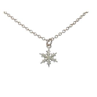 GEMSHINE halskæde SCHNEEFLOCKE 925 sølv, forgyldt eller Rose