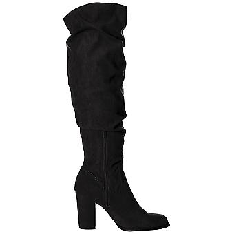 Madden Girl Womens Cinder Fabric Almond Toe Over Knee Fashion Boots