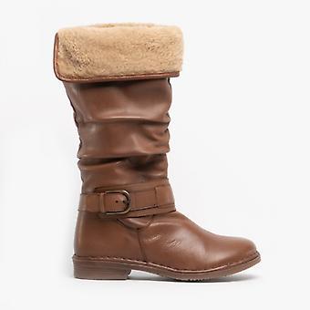 لوتس تاليثا السيدات الجلود طويل القامة الأحذية تان