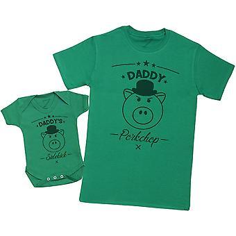 Daddy's Sidekick Porkchop - Mens T Shirt & Baby Bodysuit