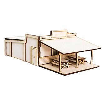 Crafts - roadside diner - raw wood model kit