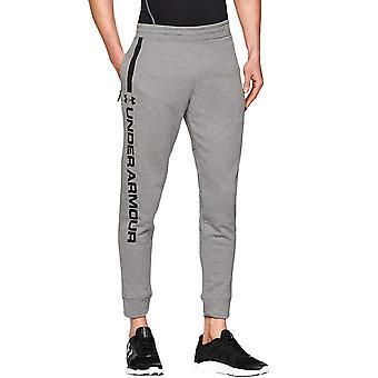 Under Armour UA Mens MK1 Terry Elasticated Joggers Sweatpants Bottoms - Grey