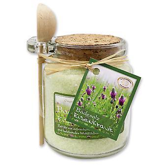 Florex banho sais com leite de ovelha em copo decorativo com colher de pau 300 g