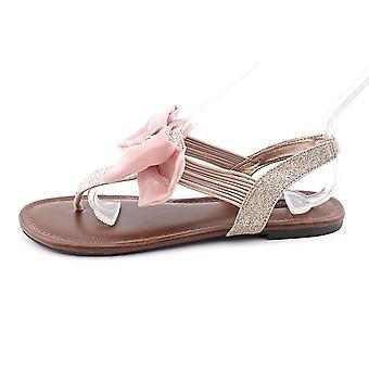 Material Girl Womens Skylar Fabric Almond Toe Slide Flats