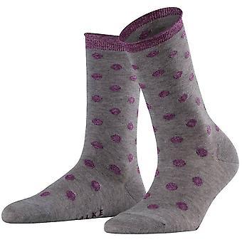 Falke Soft dot-sukat-Vaalea harmaameleerattu