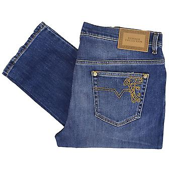 Versace Collection Slim Fit Mid Wash Jeans