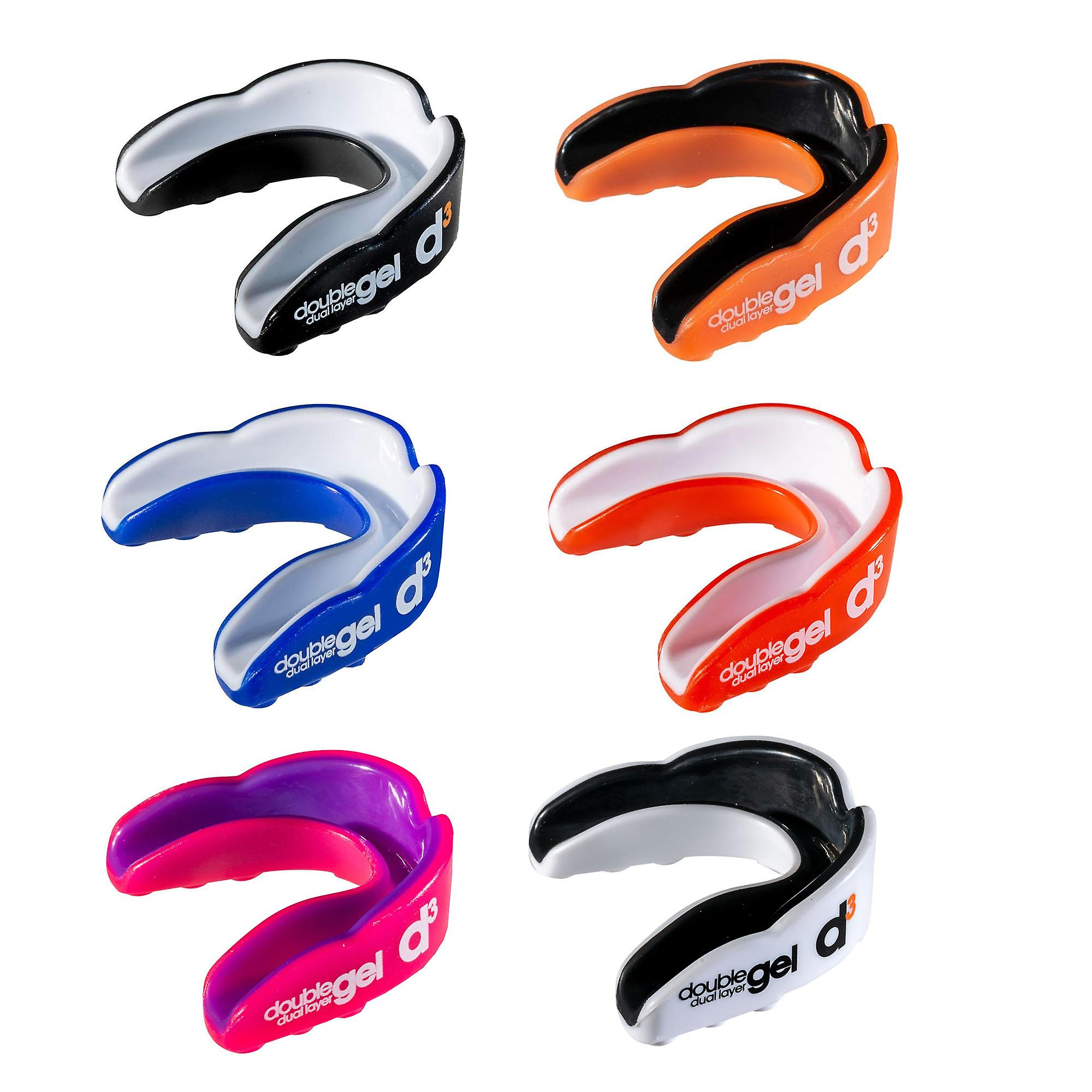 d3 Dual Layer Gel Sports Rugby Boxing Mouthguard Gumshield Adult