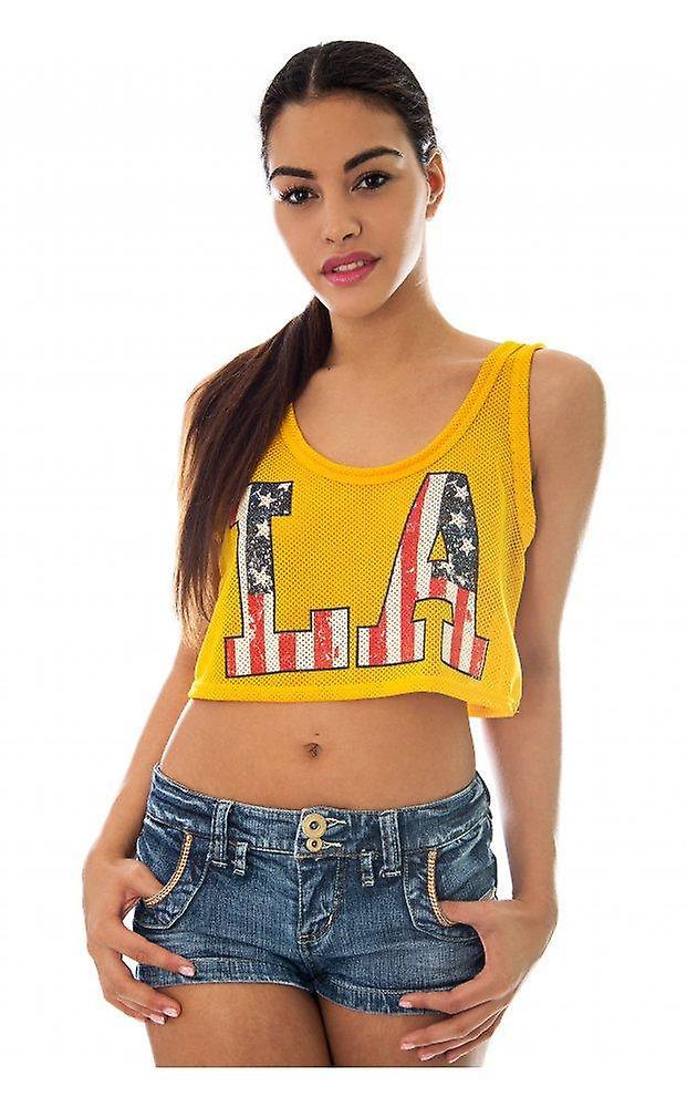 Varsity LA Vest Crop Top