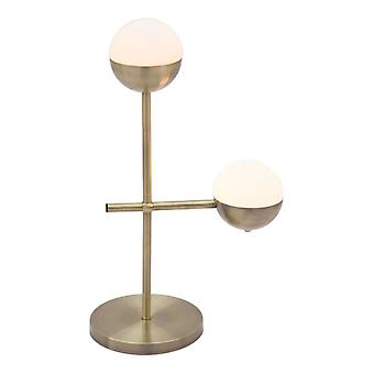 """13.8"""" X 6.7"""" X 22"""" Metal With Round Base Table Lamp"""