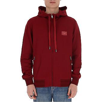 Dolce E Gabbana G9pd2tg7vasr3484 Men's Burgundy Cotton Sweatshirt