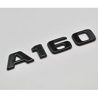 Gloss Black A160 Flat Mercedes Benz Car Model Rear Boot Number Letter Sticker Decal Badge Emblem For A Class W176 W177 AMG