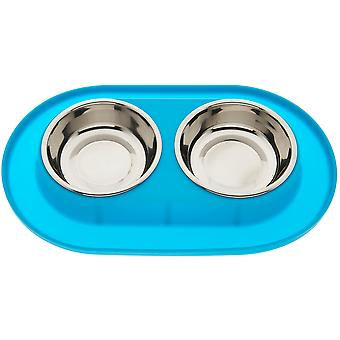 Ferribiella Small Silicone Double Bowl (Dogs , Bowls, Feeders & Water Dispensers)