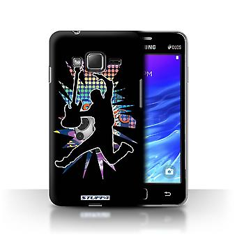 STUFF4 Case/Cover for Samsung Z1/Z130/Leap/Jump Black/Rock Star Pose