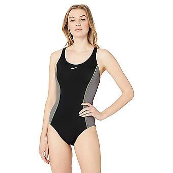 Nike Swim Women's Color Surge Powerback One Piece Swimsuit, Gunsmoke, Medium