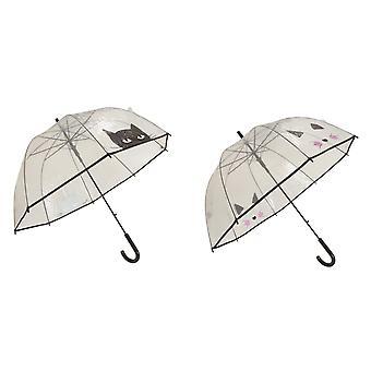 X-brella dame/damer kat ansigt paraply