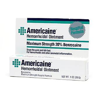Americaine hemorrhoidal ointment, maximum strength, 1 oz