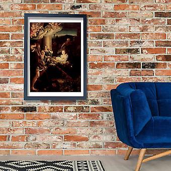 Correggio - o Holy Night cartaz impressão giclée