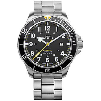 Combat Analog Men's Automatic Watch with GL0255 Stainless Steel Bracelet
